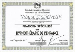 diplome-diana-leseigneur-hypnotherapie-enfants